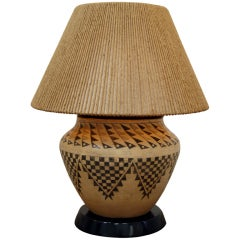 Samuel Marx Native American Indian Pottery Table Lamp