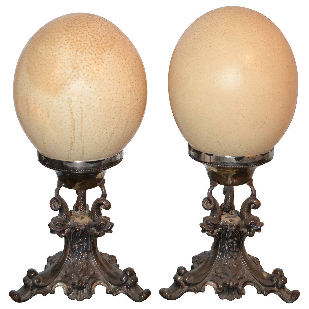 Anthony Redmile Ostrich Egg Finials For Sale