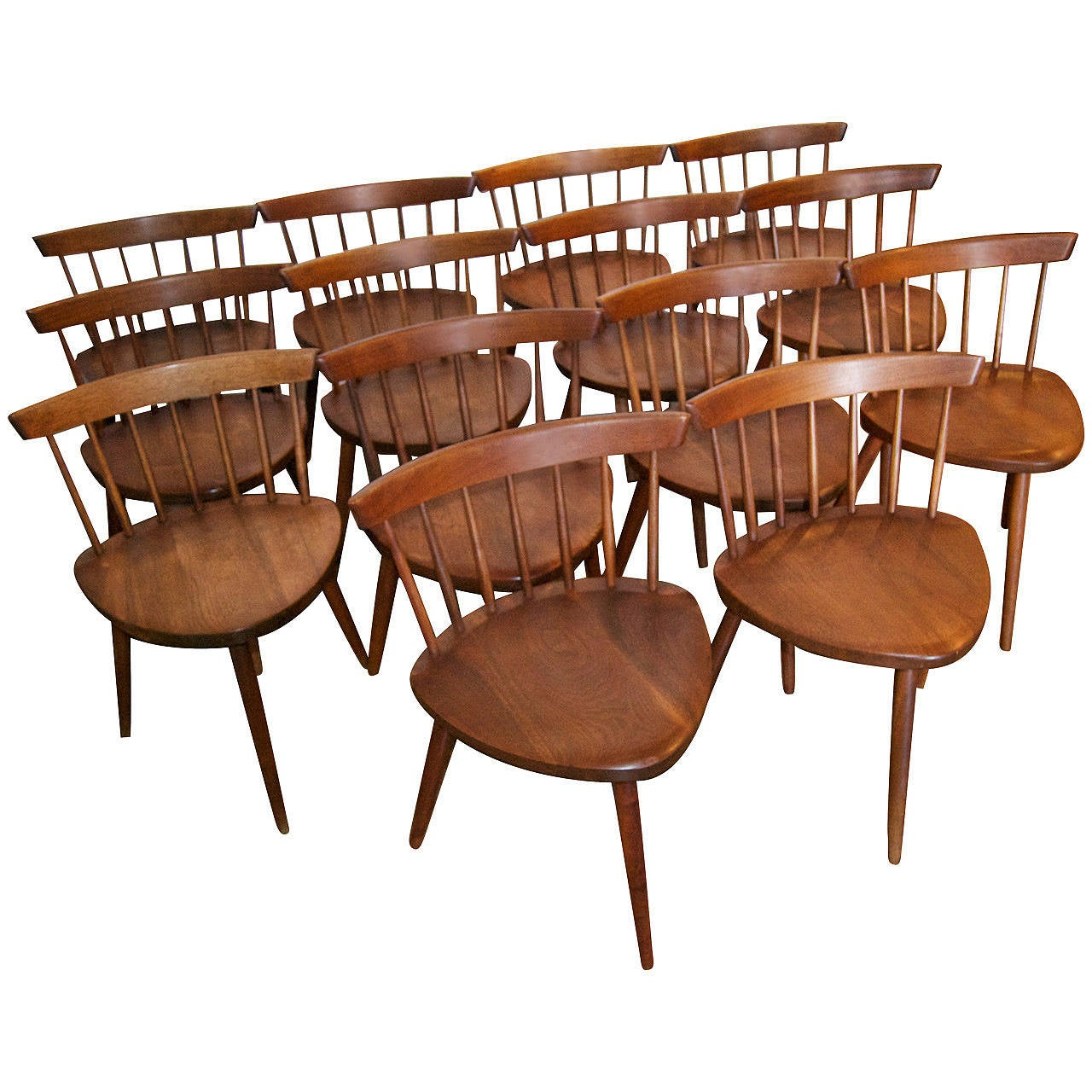 "George Nakashima ""Mira"" Chairs Set of 14 For Sale at 1stdibs"