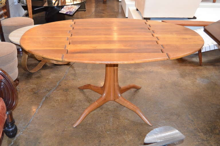 Sam Maloof spider leg drop-leaf table. A stellar example of this brilliant woodworkers Craft.