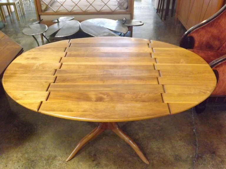 Sam Maloof Spider Leg Drop-Leaf Table In Excellent Condition For Sale In Los Angeles, CA