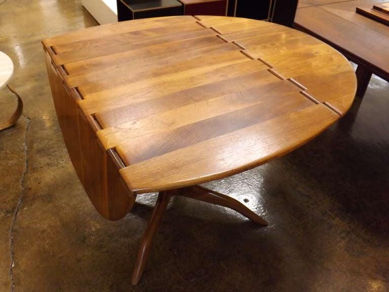American Sam Maloof Spider Leg Drop-Leaf Table For Sale