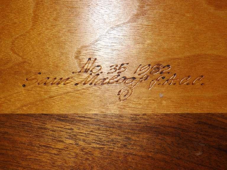 20th Century Sam Maloof Spider Leg Drop-Leaf Table For Sale