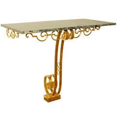 Rene Prou Gilded Wall Console