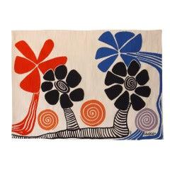 """Alexander Calder """"Flowers"""" Aubusson Tapestry"""