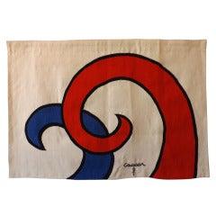 """Alexander Calder """"Swirl"""" Aubusson Tapestry"""