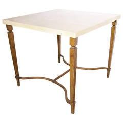 Aldo Tura Parchment Top Gilded Table