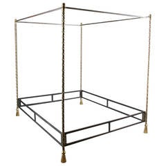 Alberto Orlandi Brass and Steel Rope Twist Bed