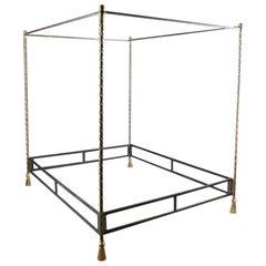 Alberto Orlandi Brass and Steel Rope Twist Bed