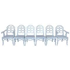 """Frances Elkins """"Loop"""" Chairs -set of 6"""