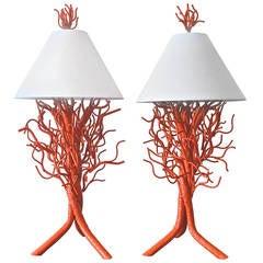 Monumental Custom Coral Lamps