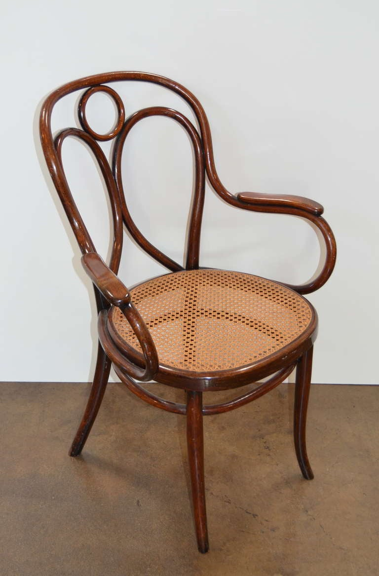 Gebruder Thonet Early Bentwood Armchair For Sale At 1stdibs