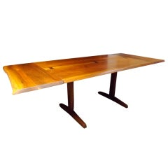 George Nakashima Free Edge Trestle Dining Table