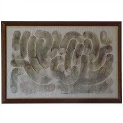 """Harry Bertoia Monotype """"Tubes"""""""