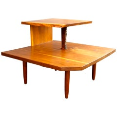 George Nakashima Free Edge Two Tier Table