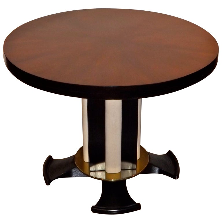 Dominique Occasional Table With Shagreen Accents For Sale
