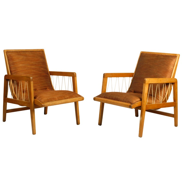 Pair of edward wormley loafer lounge chairs at 1stdibs - Edward wormley chairs ...