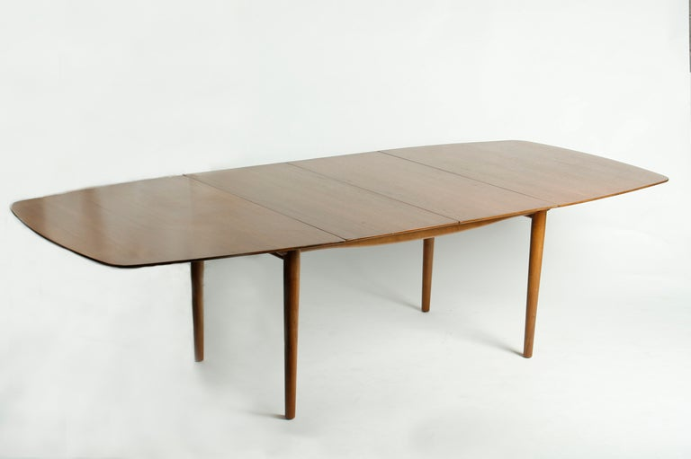 finn juhl for baker dining table and four chairs at 1stdibs