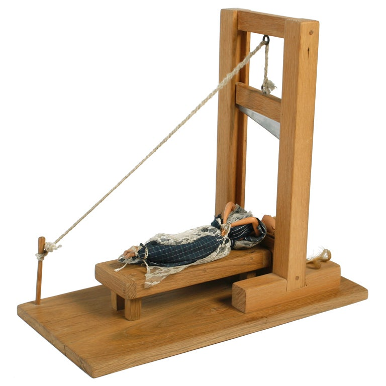 Handmade artisan working doll guillotine at 1stdibs for Chinese furniture for sale in south africa