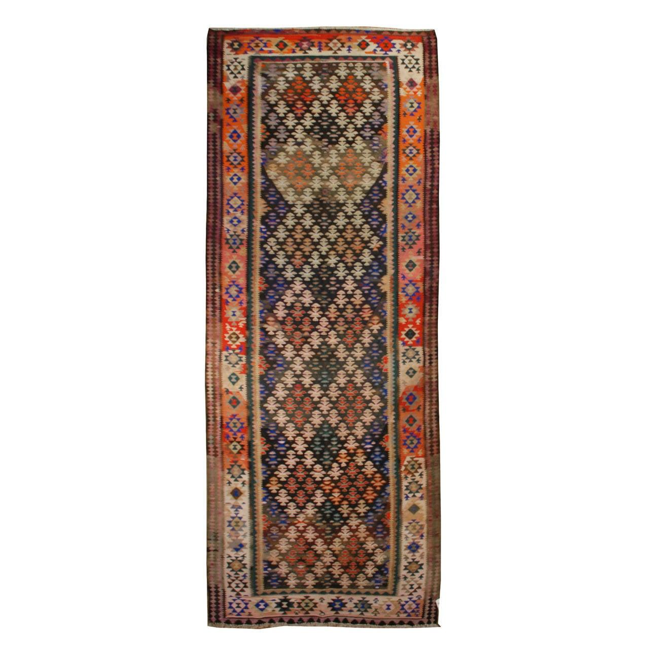 early 20th century veramin kilim runner rug at 1stdibs