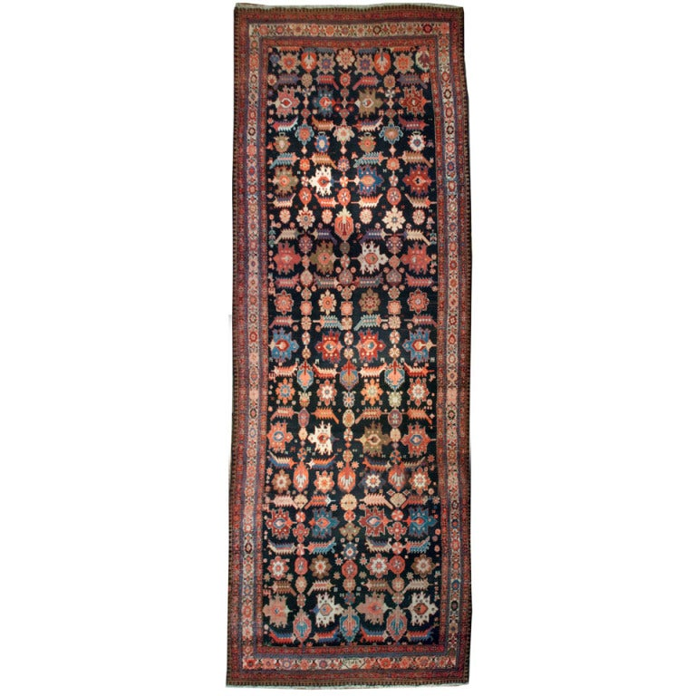 Early 20th Century Persian Malayer Carpet Runner For Sale