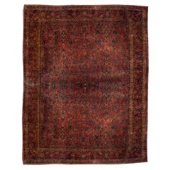 Early 20th Century Saruk Carpet