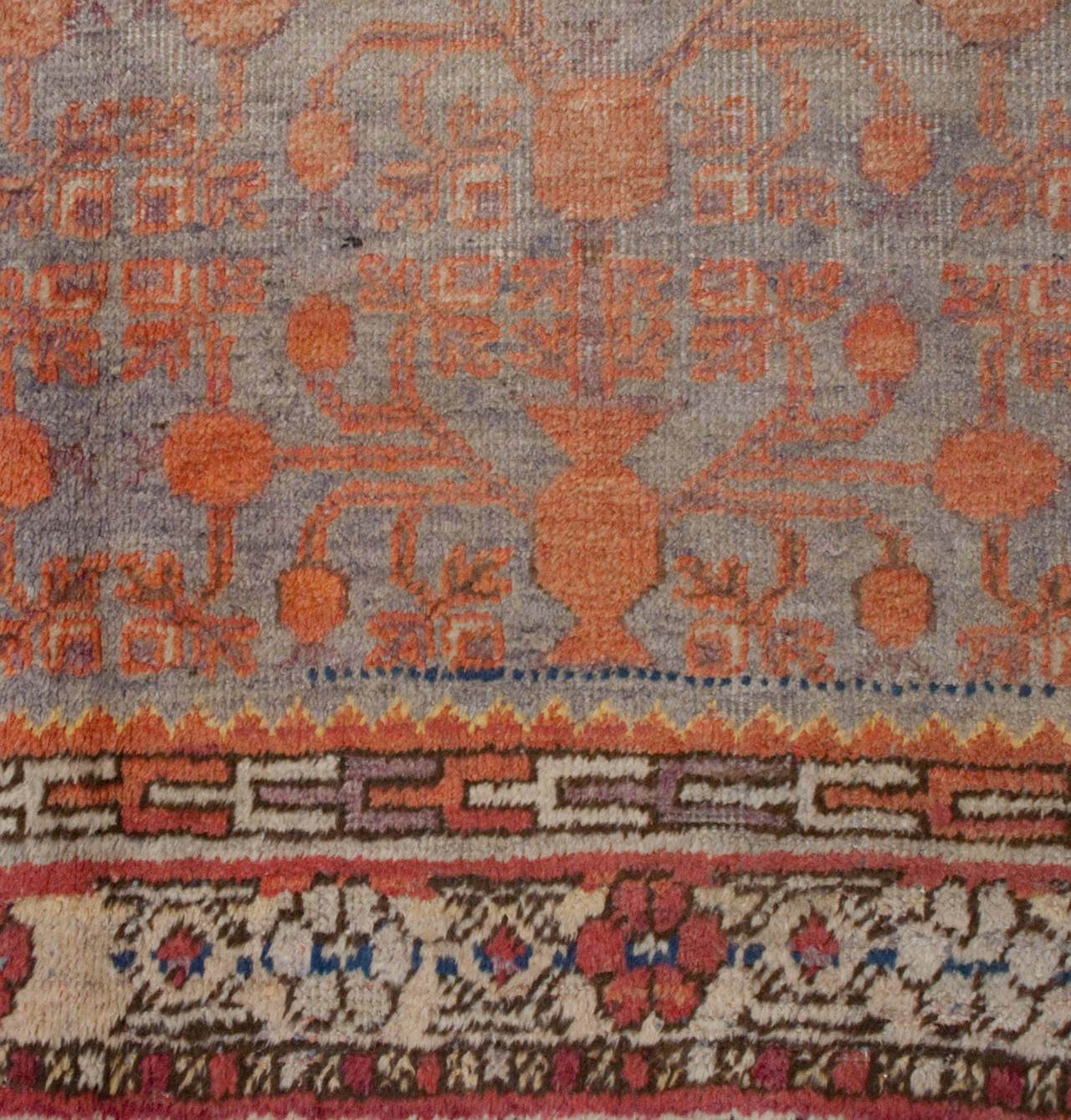 East Turkestani Early 20th Century Samarkand Rug For Sale