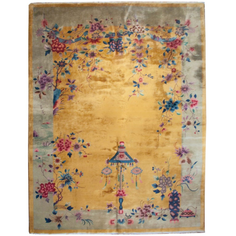 "CHinese Art Deco Rug, 9' X 11'5"" At 1stdibs"