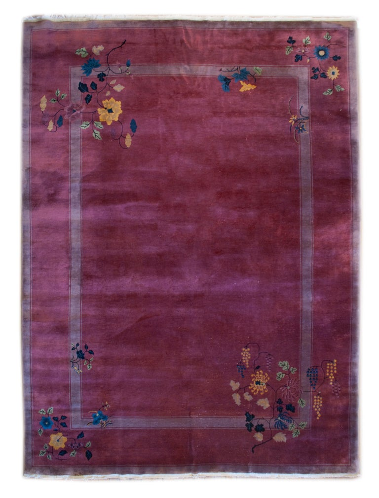 Chinese Art Deco Rug For Sale