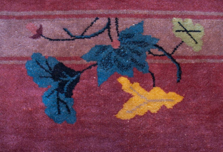 Mid-20th Century Chinese Art Deco Rug For Sale