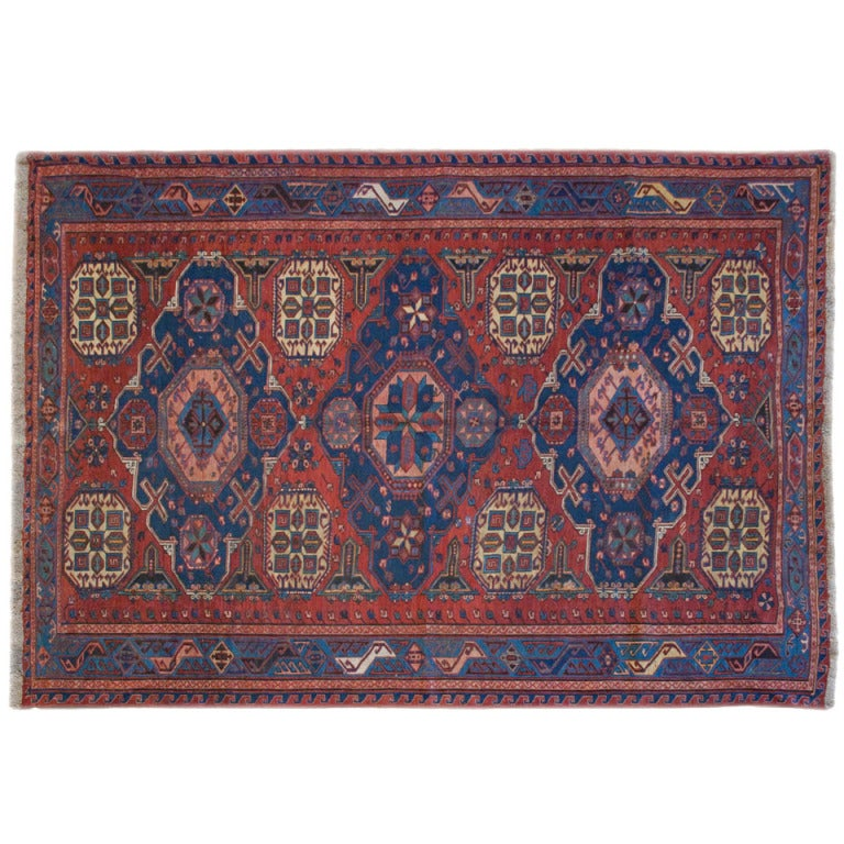 Antique Soumak Rug 5 1 X 6 10 At 1stdibs