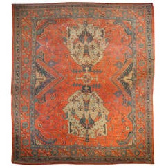 Early 20th Century Turkish Oushak Rug
