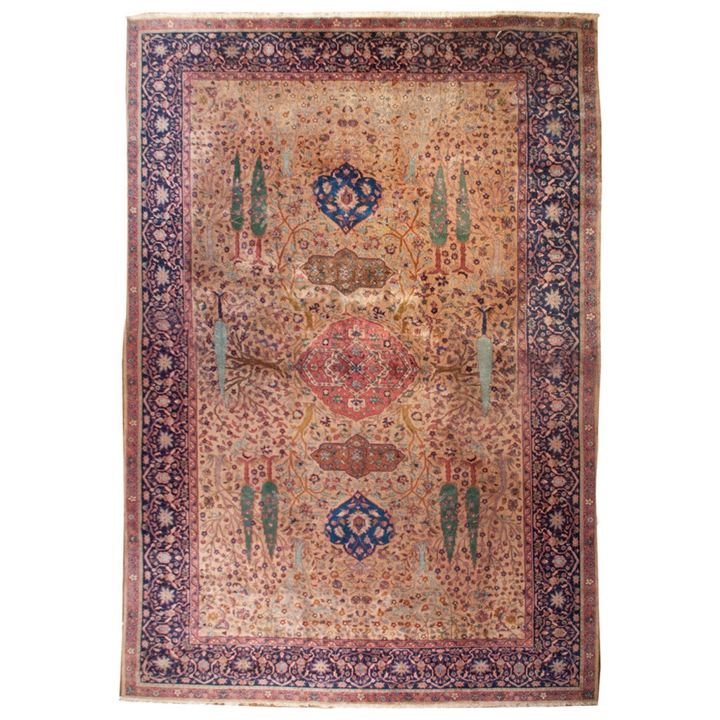 19th Century Agra Rug For Sale At 1stdibs