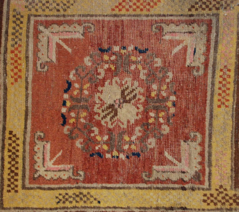 An antique Central Asian Samarkand rug with an unusual