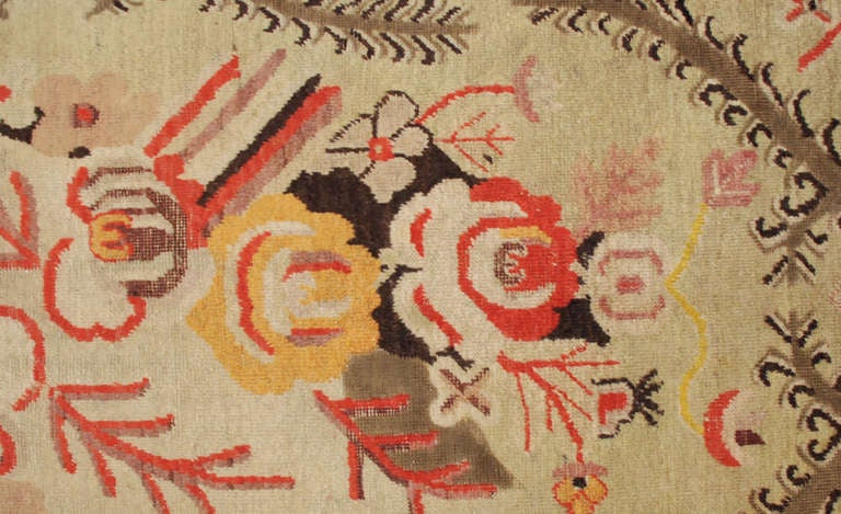 Chinese Antique Samarkand Rug For Sale