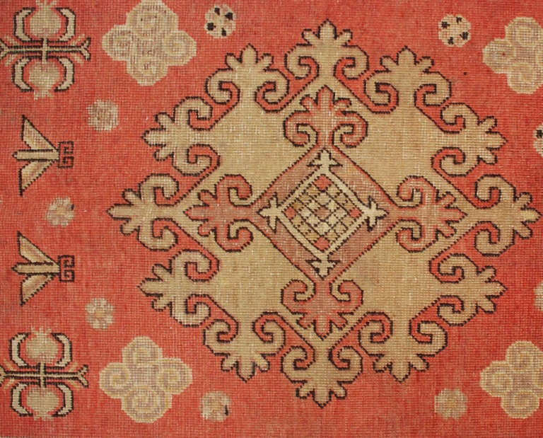 20th Century Antique Samarkand Rug For Sale