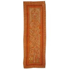 Antique Silk Embroidered Kirman Suzani