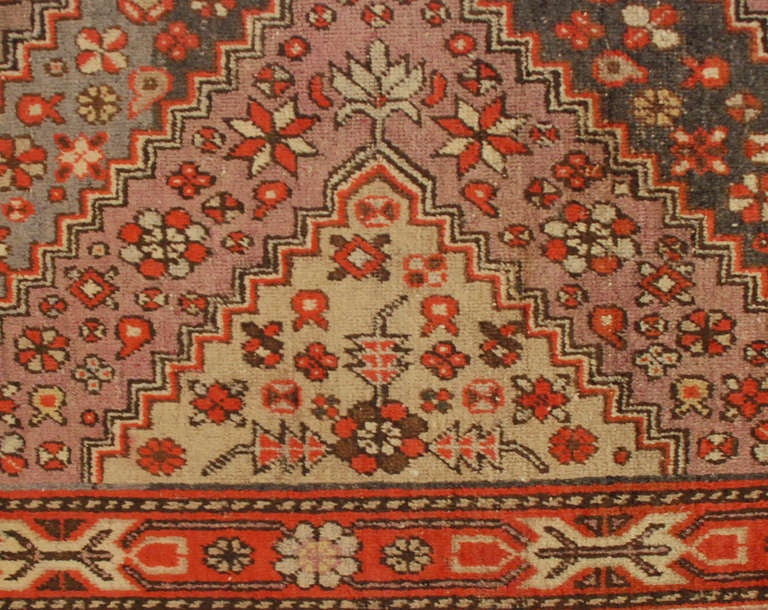 Early 20th Century Samarkand Rug In Excellent Condition For Sale In Chicago, IL