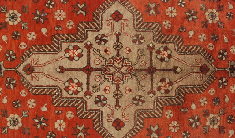 Wool Early 20th Century Samarkand Rug For Sale