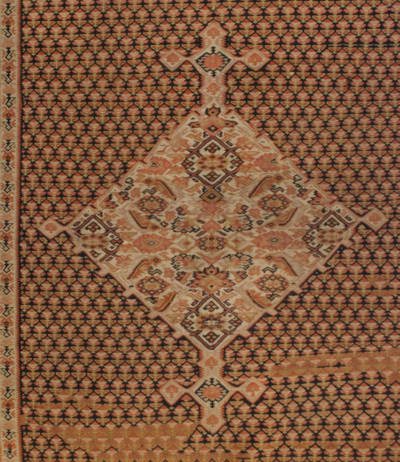 Earl 20th Century Senneh Kilim Rug For Sale At 1stdibs