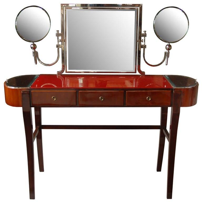 Czech Art Deco Vanity Table Designed By Jaroslav Grunt At