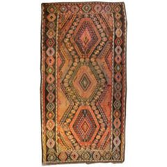 Early 20th Century Turkish Kilim Runner