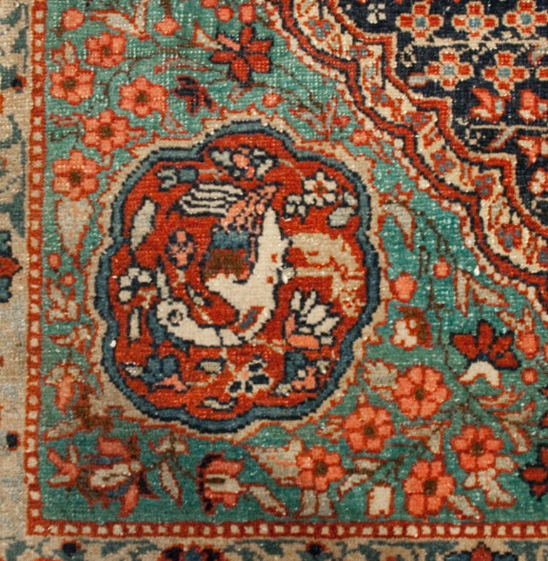 19th Century Isfahan Rug At 1stdibs