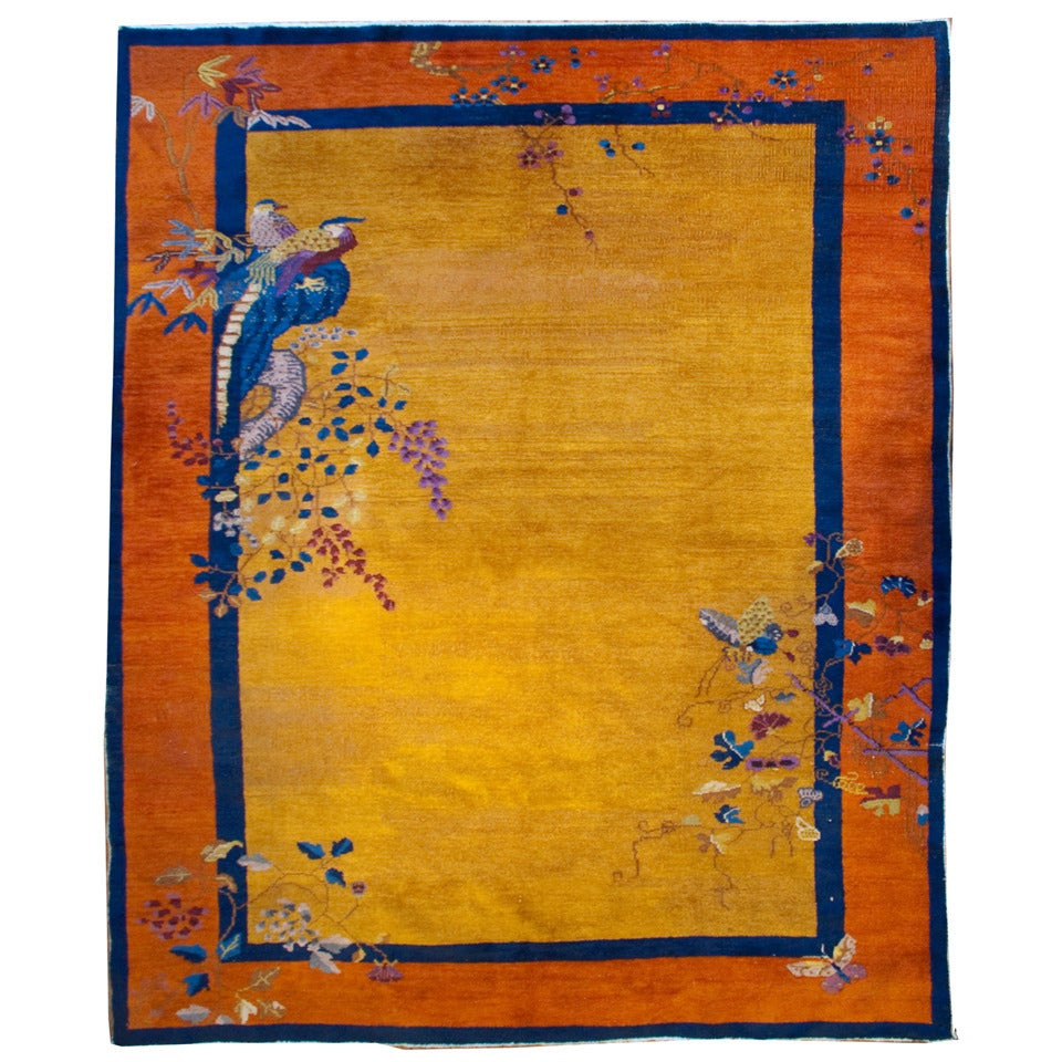 Early 20th Century Chinese Art Deco Rug 1