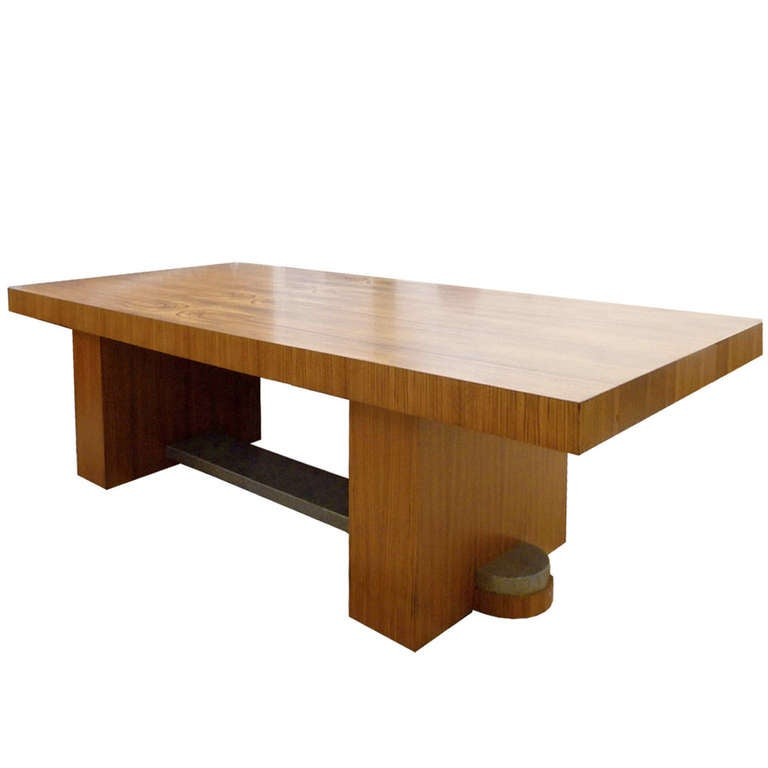 Very elegant art deco conference table by ateliers de - Tisch oval weiay ...