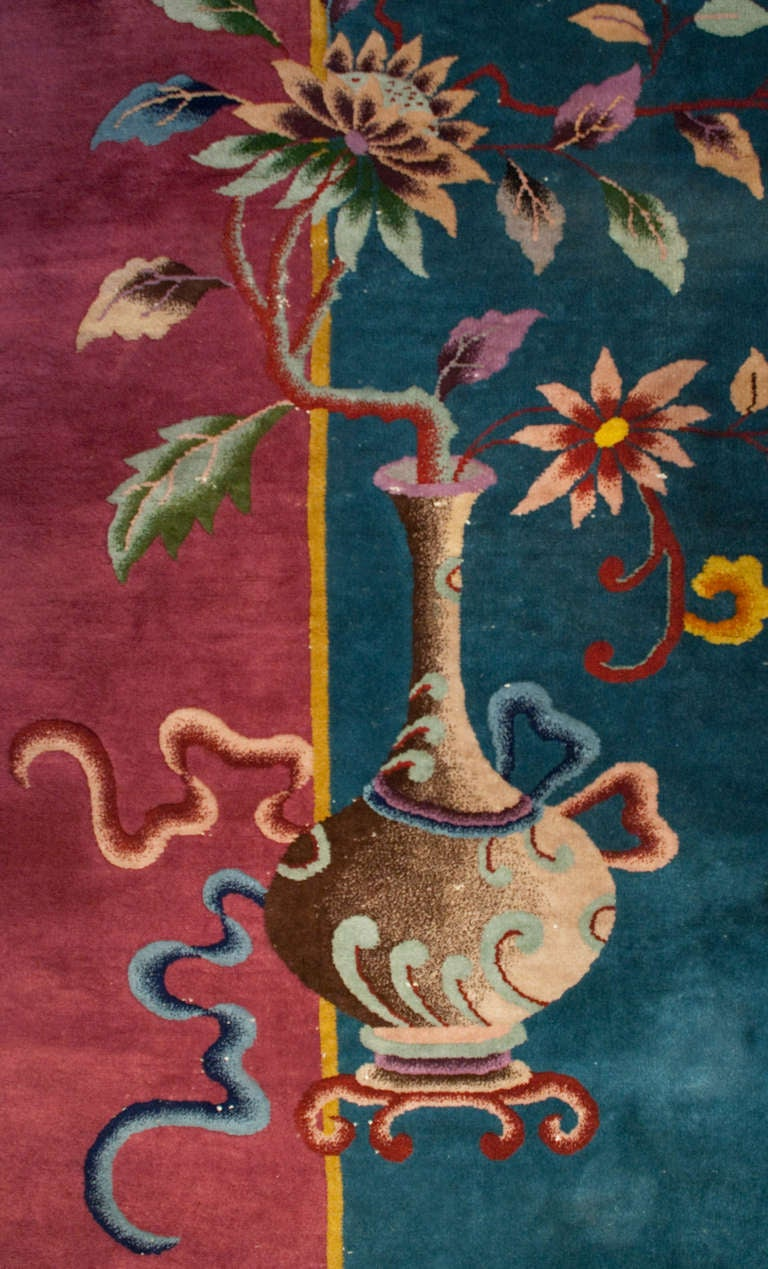 Early 20th Century Chinese Art Deco Rug At 1stdibs