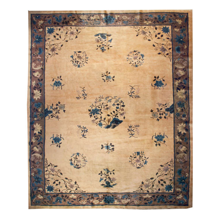 Antique Chinese Rug: Antique Peking Rug For Sale At 1stdibs