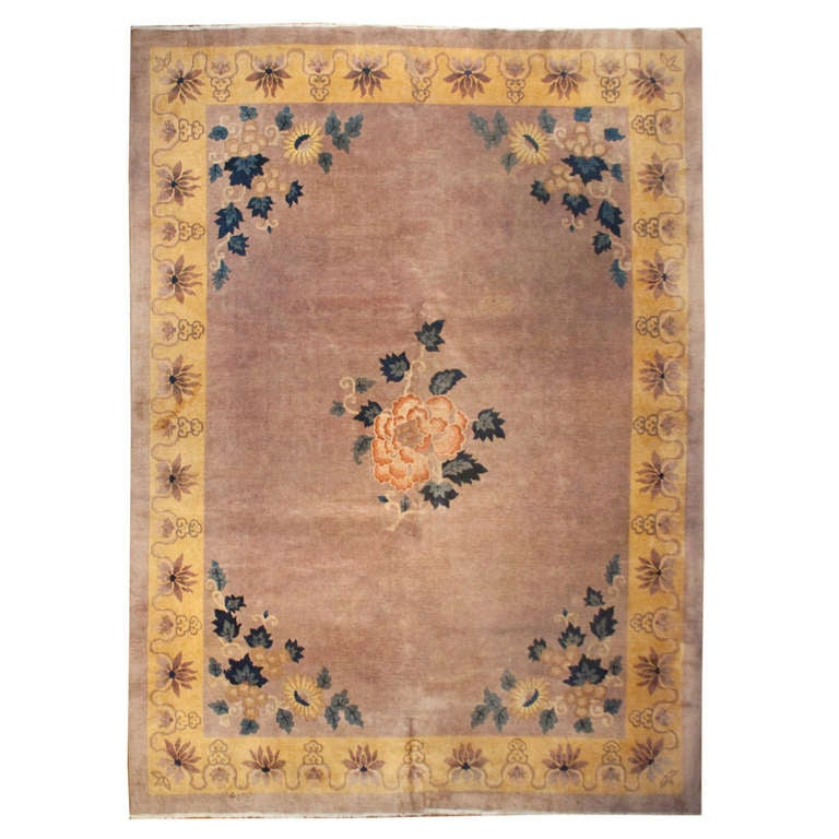 Chinese Carpets And Rugs: Chinese Art Deco Rug For Sale At 1stdibs