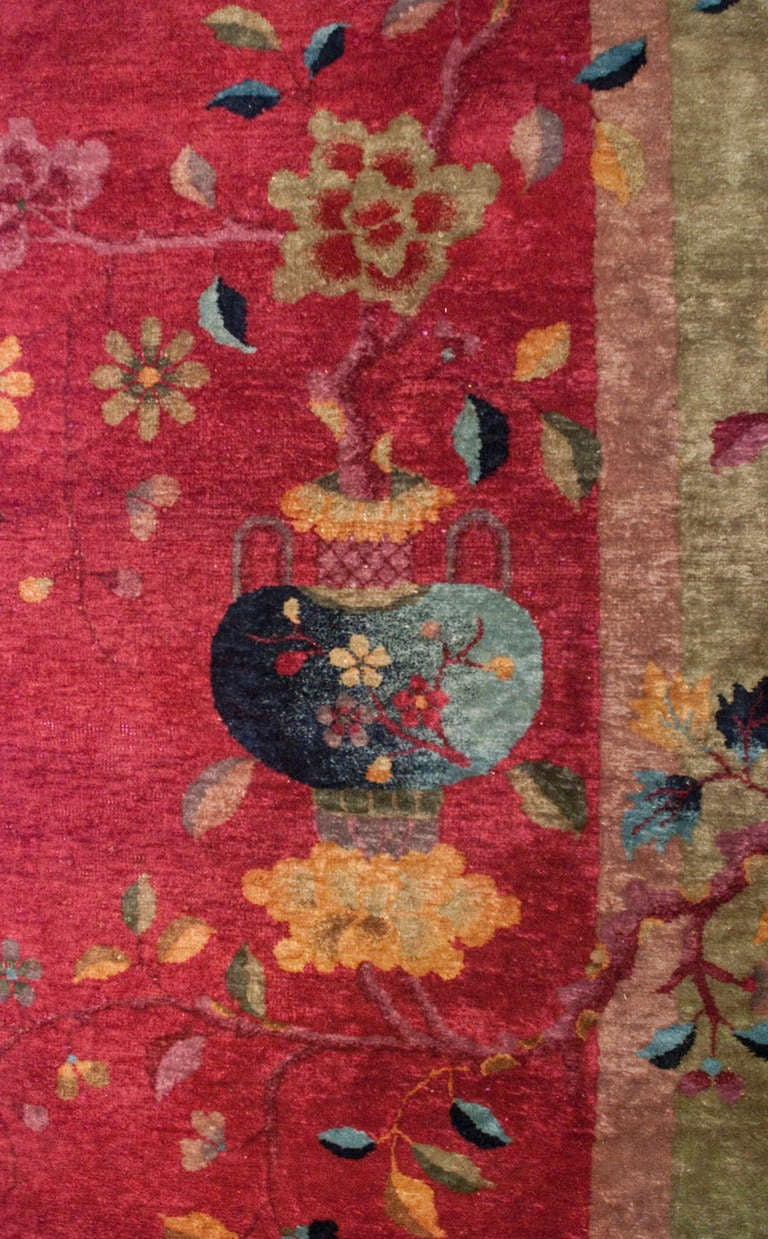 20th Century Chinese Art Deco Rug For Sale