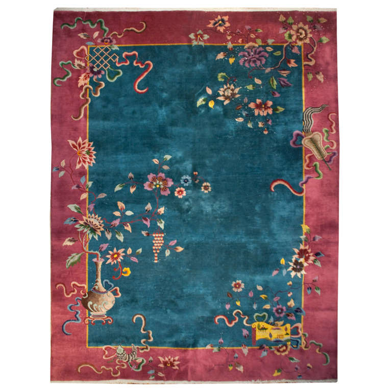 Early 20th Century Chinese Art Deco Rug For